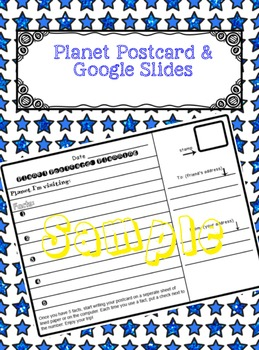 Planet Post Card and Google Slides