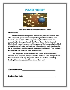 Planet Take Home Project/Poster Made Easy