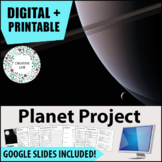 Planet Project - PBL - STEM - Distance Learning