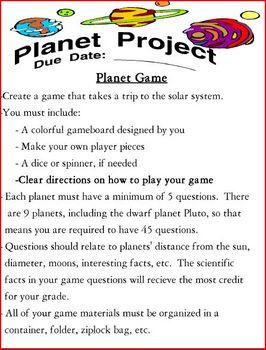 Planet Project (Scrapbook / Gameboard)