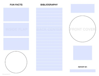 Planet Report Trifold Brochure Template
