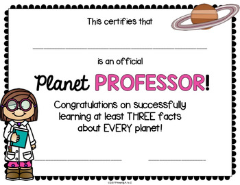 Planet Research BUNDLE {Posters, Printables, Quiz & Certificates}