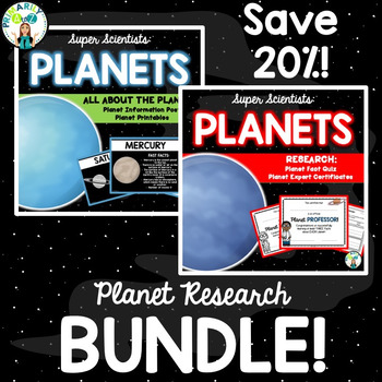 Planet Research BUNDLE {Posters, Printables, Quiz & Certificates}