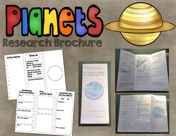 Planet Research Brochure - Informational Writing and Astronomy!