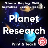 Planet Research: Nonfiction Writing CCSS Grades 2-5