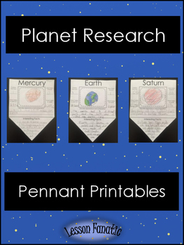 Planet Research Pennant Posters