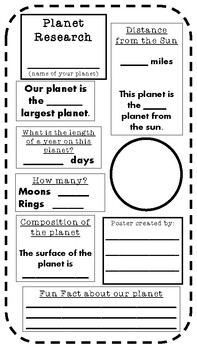 Planet Research Poster