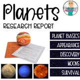 Planet Report: The Solar System Inner and Outer Planets