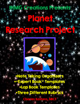 Planet Research Project-Includes Note Takers, Expert Book, Lap Book, & Rubrics!