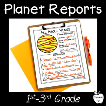 Planet Research Project ~ Posters & Report Sheets ~ Grades 1-3
