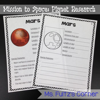Planet Research Unit for Big Kids