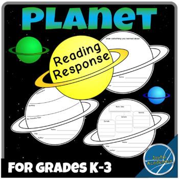 Planet Shaped Reading Response Sheets