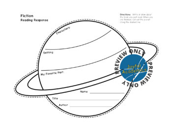 Planet Shaped Reading Response Sheets for Any Book