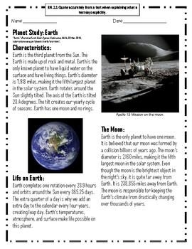 Planet Study: Earth