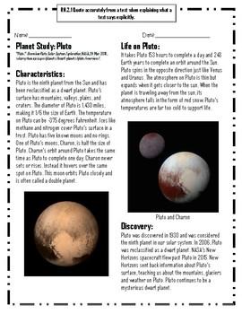 Planet Study: Pluto