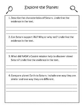 Planet Study: Saturn