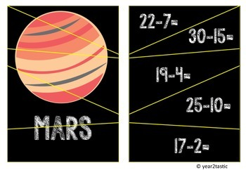 Self-checking Subtraction Jigsaw Space Planets {year2tastic}