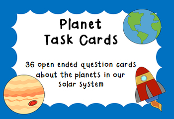 Planet Task Cards