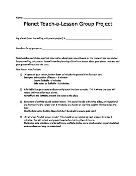Planet Teach-a-Lesson Group Project