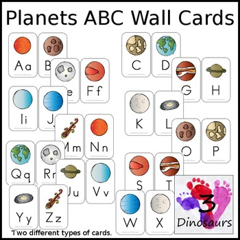 Planet Themed ABC Wall Cards