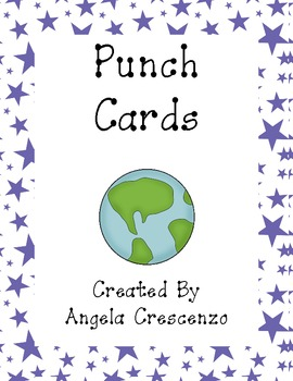 Planet Themed Punch Cards