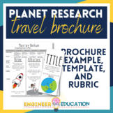 Planet Research Brochure: Engaging Travel Agent Space Scie