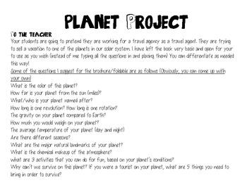 Planet Travel Brochure: Pick a Planet, Plan a Trip
