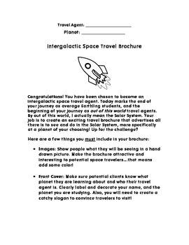 planet travel brochure project by sklar wars teaching boutique tpt
