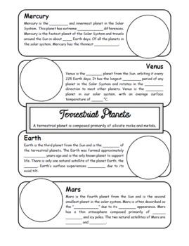 Planet Types Doodle Notes Bundle