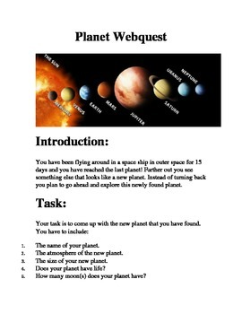 Planet Webquest