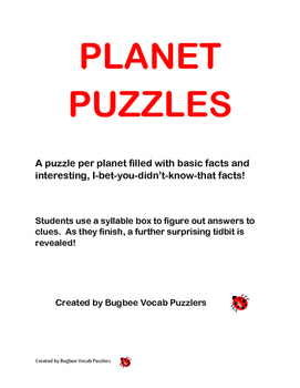 Planet Word Puzzles