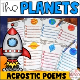 Planet Writing Acrostic Poems FREEBIE