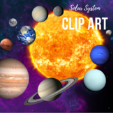 Planet and Solar System Clipart - Space Clip Art