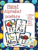 Planet themed alphabet posters
