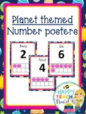 Planet themed number posters