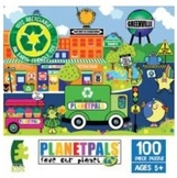 "PLANETPALS Green n Clean ""GREENVILLE"" PUZZLE 100 Piece"
