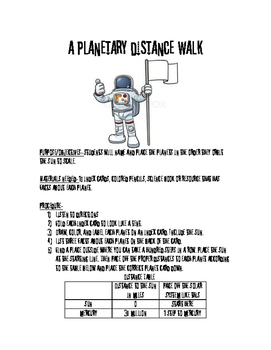 Planetary Distance Guide-Walk Distances to Scale