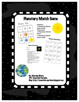 Planetary Match Game