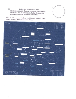 Planetary Motion Astronomy Test