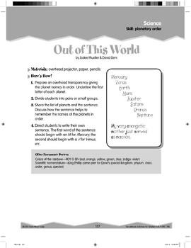Planetary Order (Ten-Minute Activities)