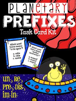 Planetary Prefixes- Prefix Vocabulary Task Card Kit