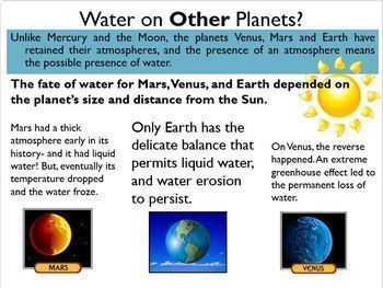 Surface Features of Planets (5 Planetary Processes) Powerpoint, Notes, Worksheet