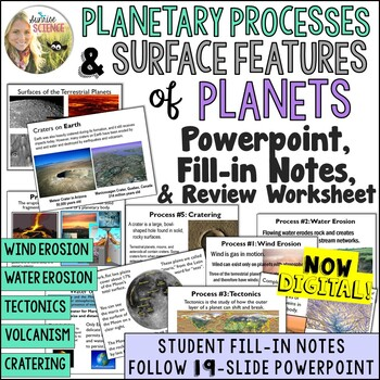 Surface Features of Planets Powerpoint and Worksheet