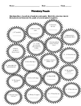Planetary Puzzle - Worksheet