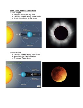 Planetary Science Review Sheet