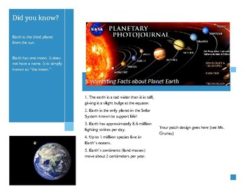 Planetary Travel Brochure Template (Earth Sample)