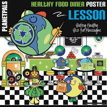 Planetpals Eco Friendly Healthy Eating Diner Poster