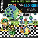 "Healthy Lesson Bulletin Board Poster Food Science ""Day at the Diner"" Bundle"