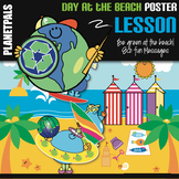 Eco Friendly Bulletin Board Poster Day at the Beach Lesson