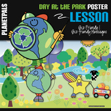 Eco Friendly Bulletin Board Poster Day at the Park Lesson